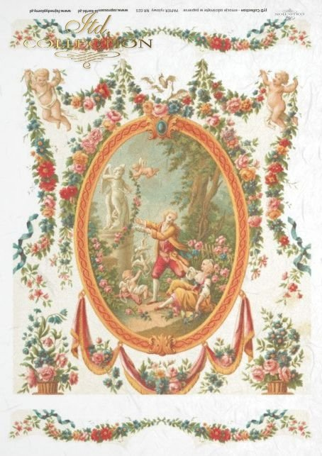 flower, flowers, decoration, decorations, ornament, ornaments, retro, vintage, tapestry, R023