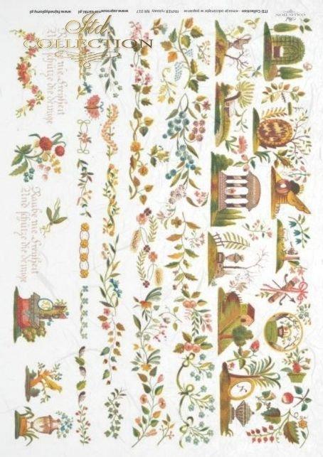 retro, vintage, kwiaty, kwiatki, dekoracje, dekor, dekory, onament, R017