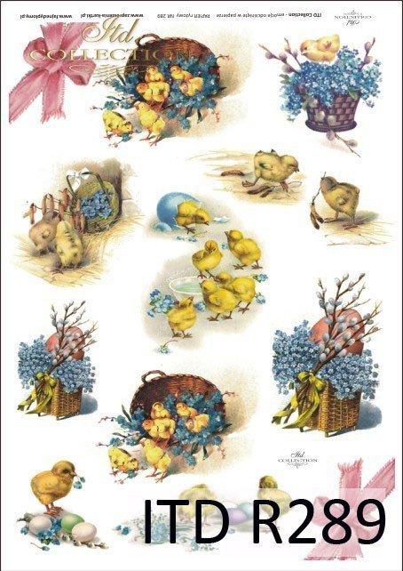 Wielkanoc, kurczaki, kurczaczki, kwiatki, wiosna, jajka, pisanki, R289