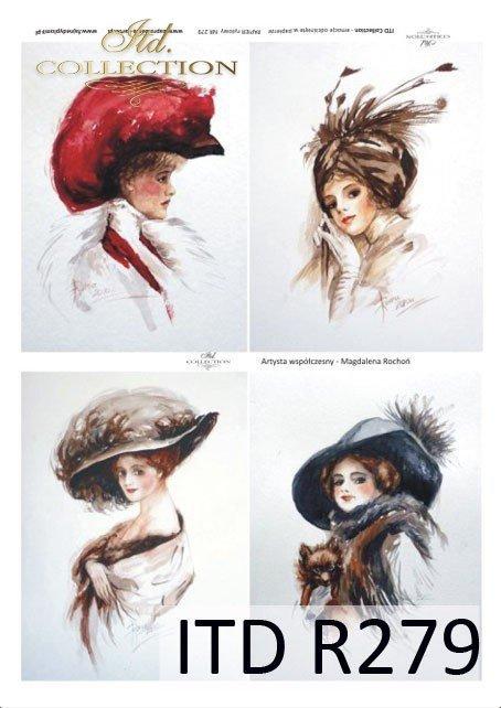 portret, portrety, kobiety, fryzura, fryzury, kapelusz, kapelusze, retro, dama, Magdalena Rochoń, R279