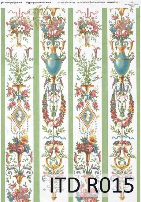 papier ryżowy decoupage - kwiaty, ornamenty, Vintage*rice paper decoupage - flowers, ornaments, Vintage