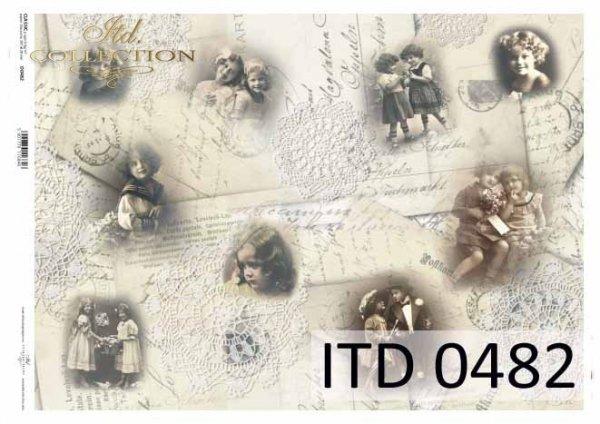 бумага для декупажа классическая D0482
