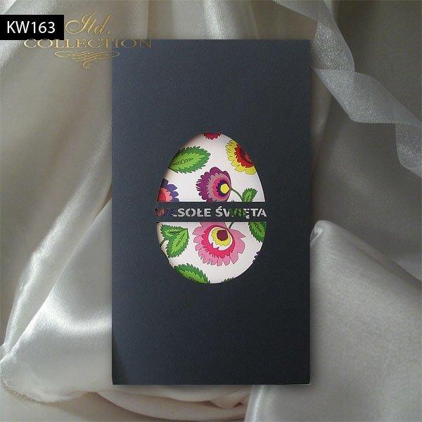 Пасхальная открытка с конвертом KW163