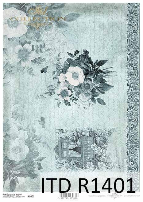 papier decoupage kwiaty, dekora, okno w kwiatach*paper decoupage flowers, decoration, window in flowers