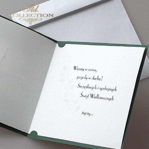 Пасхальная открытка с конвертом KW169