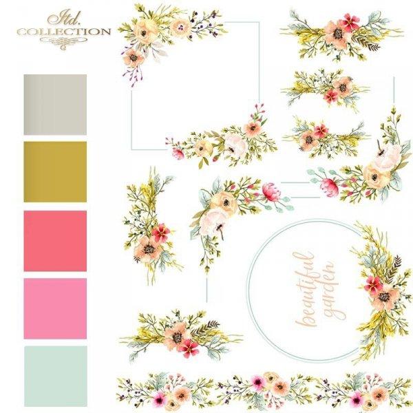 akwarele-kwiaty-polne-kwiatki-malutkie-bukieciki-ramki-z-kwiatów-narożniki-kwiatowe-dekory-kwiatowe-motywy-ślubne-na-skrzyneczki-papier-decoupage-ryżowy-R1456