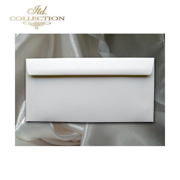 .Конверт KP06.02 110x220 натуральный белый цвет