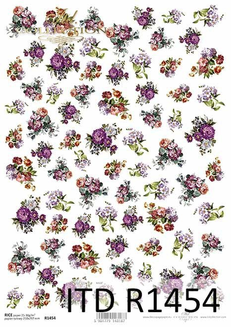 kwiaty, anemony, astry, drobne elementy*flowers, anemones, asters, small elements