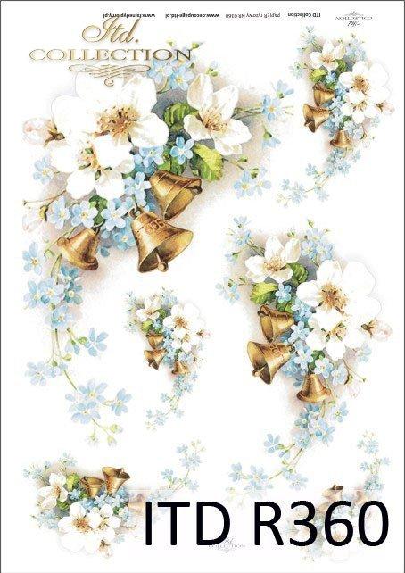 wiosna, kwiat jabłoni, jabłoń, kwiaty, niezapominajki, dzwon, dzwony, R360