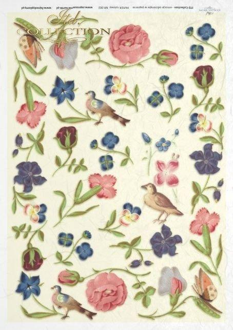 flower, flowers, butterfly, butterflies, bird, birds, meadow, garden, R002