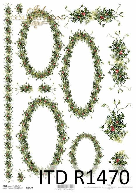 Boże Narodzenie, wzory na chusteczniki, dekory*Christmas, patterns for handkerchiefs, decors