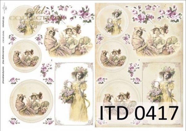 Decoupage paper ITD D0417M