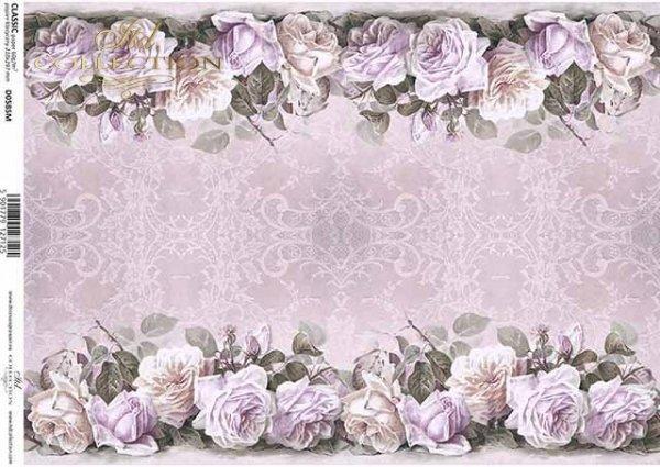 Blumenarrangements aus Decoupage-Papier, Rosen, Spitze*arreglos florales de papel decoupage, rosas, encajes*декор бумаги цветок договоренности, розы, кружева