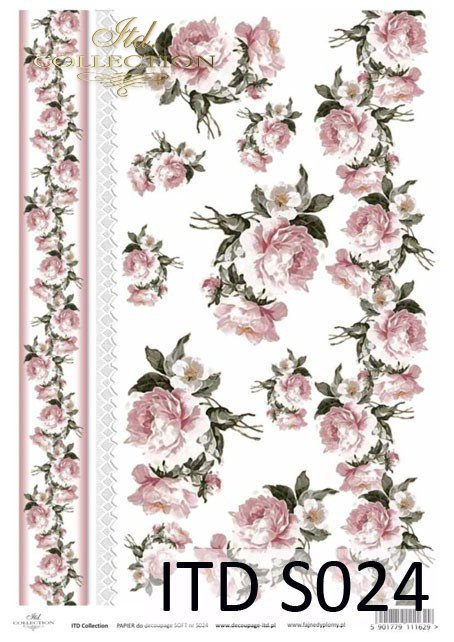 Decoupage paper Soft ITD S0024