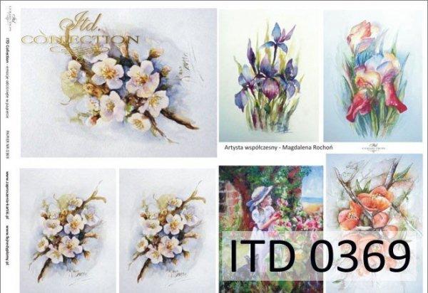 Decoupage paper ITD D0369