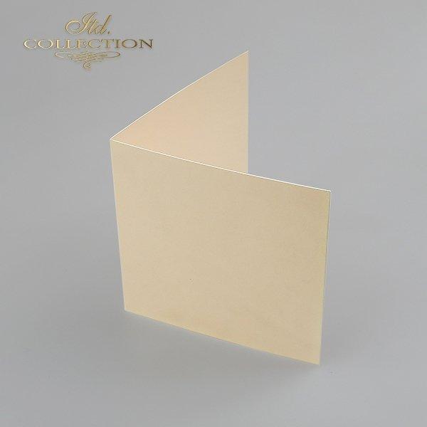 Card Base BDK-015 * cream color, iridescent paper