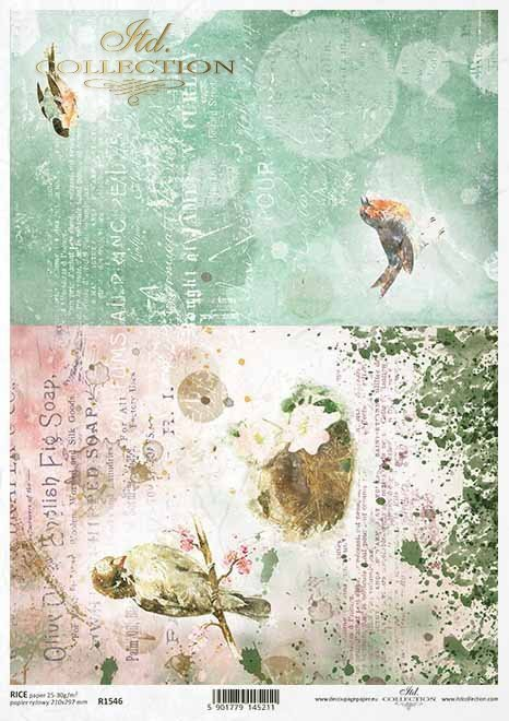 Pattern Rice paper for Decoupage #R1558