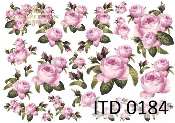 Decoupage paper ITD D0184M