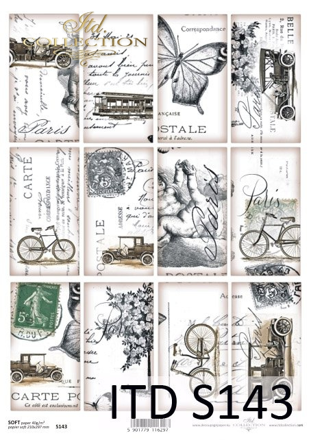 Decoupage paper Soft ITD S0143