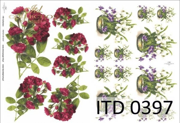 Decoupage paper ITD D0397M