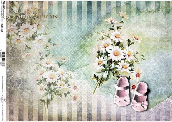 papel decoupage para el cumpleaños de un niño, para una niña, zapatos, flores*Decoupage-Papier für den Geburtstag eines Kindes, für ein Mädchen, Schuhe, Blumen*бумага для декупажа для дня рождения ребенка, для девушки, обуви, цветов