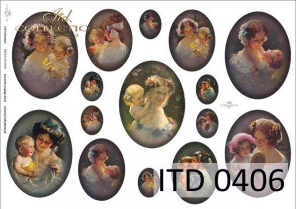 Decoupage Paper ITD D0406M