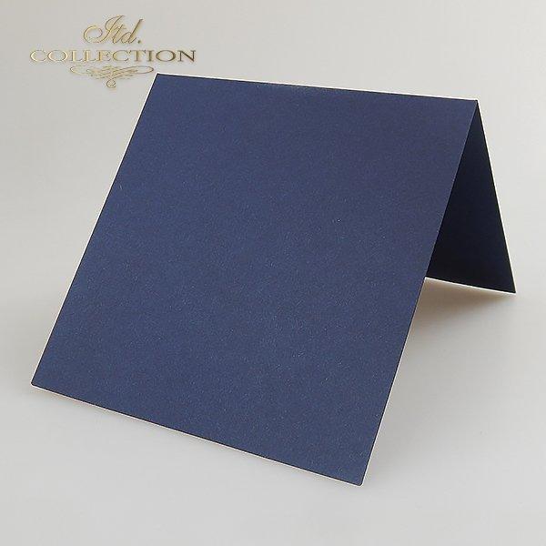 Baza do kartki kolor Granatowy. Format kartki stworzony do koperty 156x156 mm