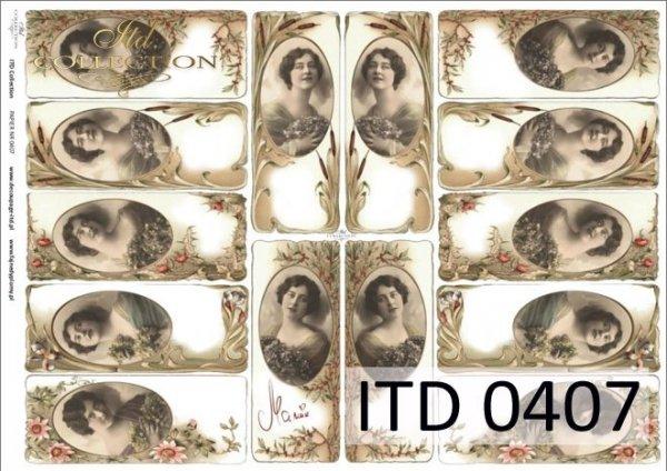 Decoupage paper ITD D0407