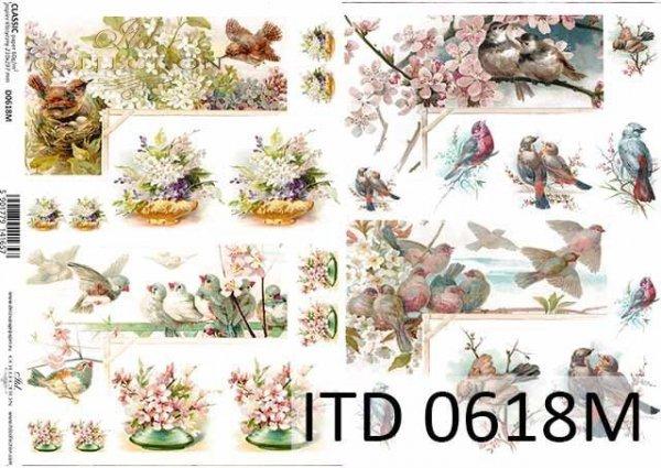 Decoupage paper ITD D0618M