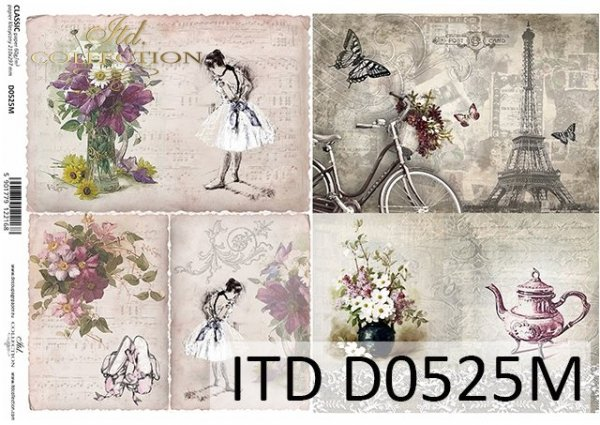 Decoupage paper ITD D0525M