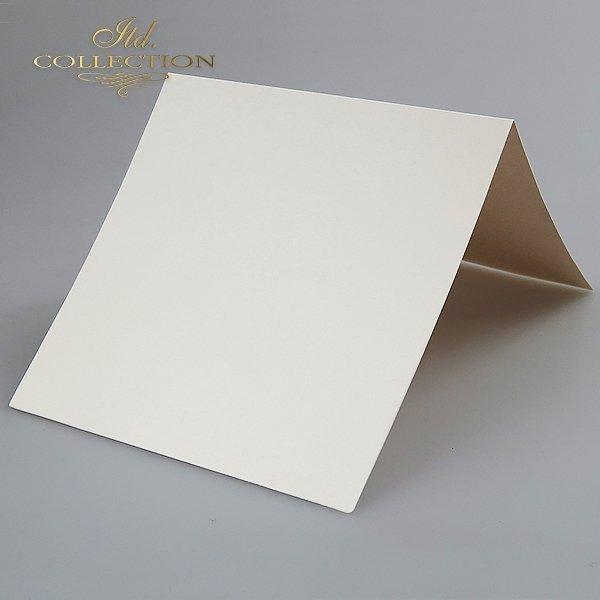 Baza do kartki kolor Kremowy-opalizujący. Format kartki stworzony do koperty 156x156 mm