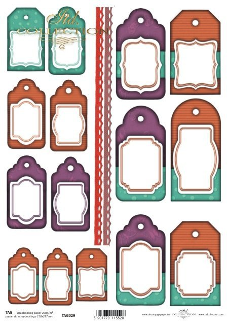 Tags, frames to scrapbooking TAG0029
