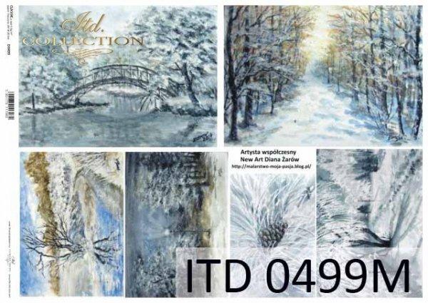 Decoupage paper ITD D0499M