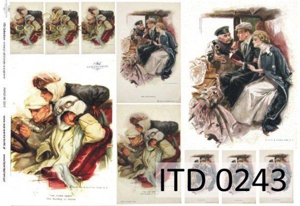 Decoupage paper ITD D0243M