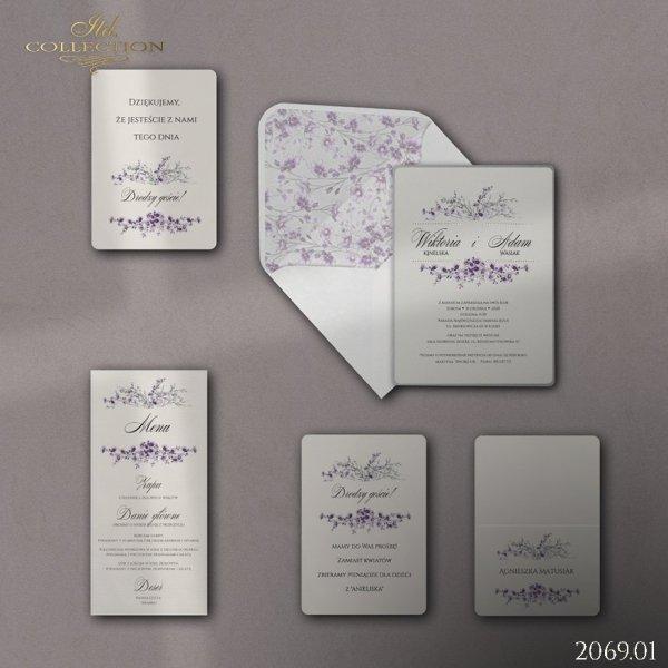 Zaproszenie 2069 * Zaproszenia ślubne * menu * winietka * koperta - wersja 1