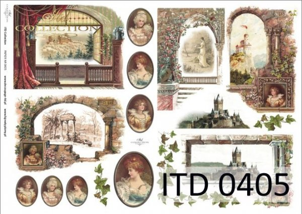 Papier decoupage ITD D0405