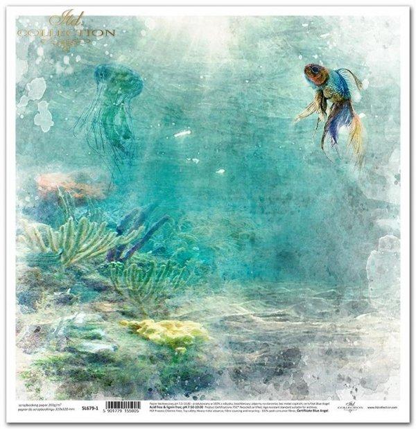 Seria Tropical dreams - ryba, morska toń, głębia, koralowiec, meduza
