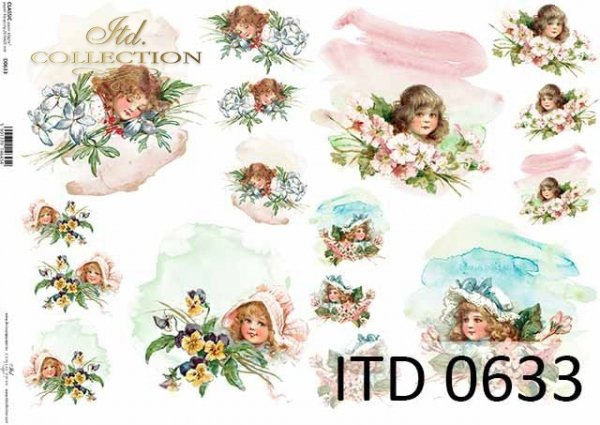 Papier decoupage ITD D0633