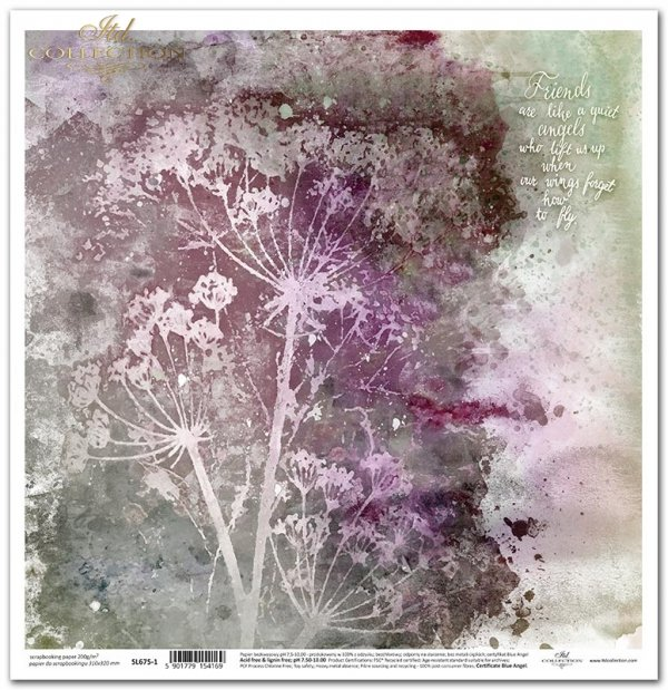 Seria Ogród marzeń - Ogród marzeń, koper, cytat, akwarela, baza