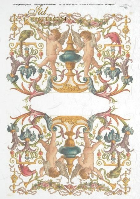 cherubs; flower, flowers, decoration, decorations, ornament, ornaments, floral decorations, R046
