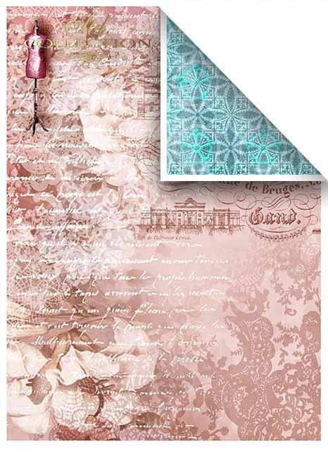 Papiery do scrapbookingu w zestawach - francuskie dziewczyny * Papers for scrapbooking in sets - French girls