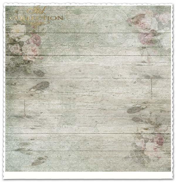 Papier do scrapbookingu - bukiety róż, Vintage*Paper for scrapbooking - bouquets of roses, Vintage