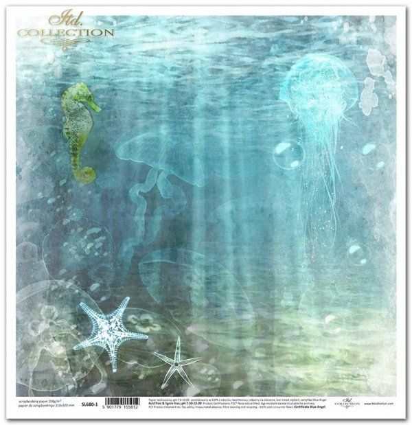 Seria Tropical dreams - konik morski, rozgwiazdy, meduzy