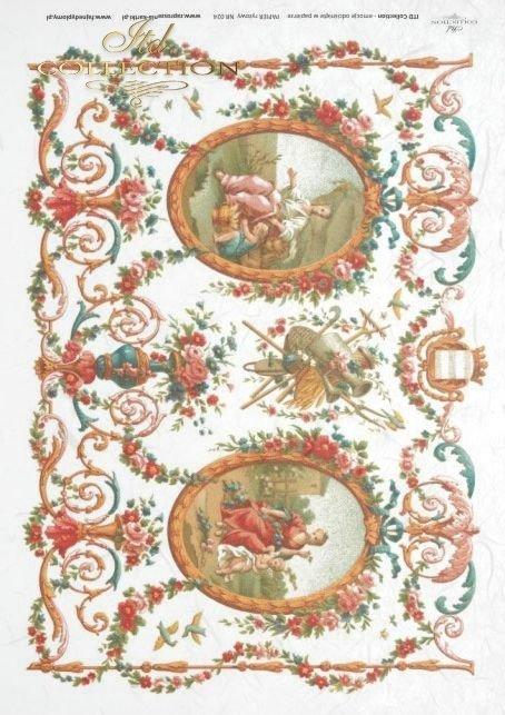 flower, flowers, decoration, decorations, ornament, ornaments, retro, vintage, tapestry, R024