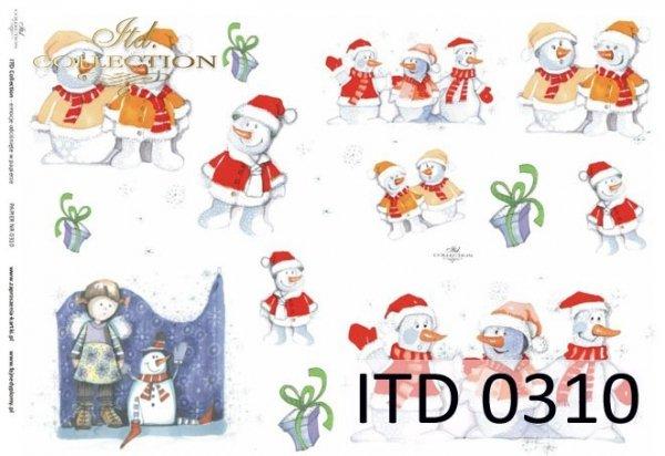 zima, bałwan, bałwany, bałwanek, bałwanki, dziecięcy, dla dzieci, D310, Dorota Marciniak