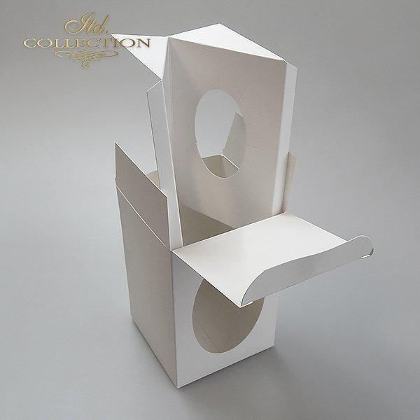 Pudełko na jajko 12 cm*idealne na jajko przeźroczyste dekorowane decoupage lub scrapbookingiem