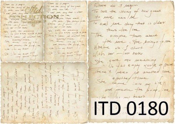 Papier decoupage ITD D0180M