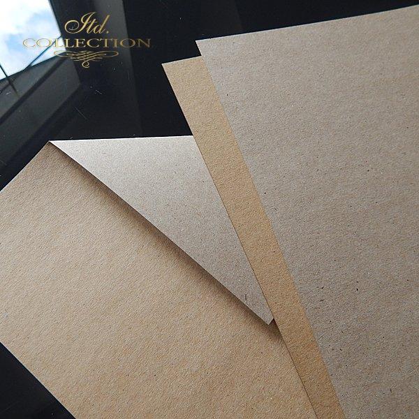 .Papier do scrapbookingu ekologiczny brązowo-szary 140 gram A4 * PSS009