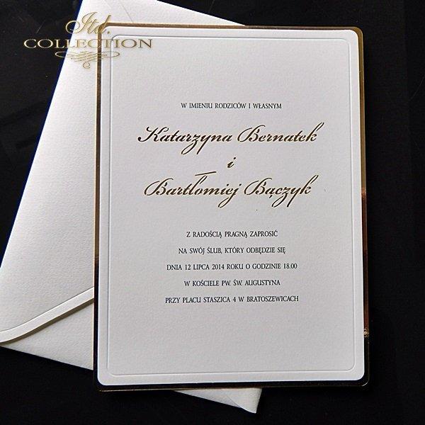 Zaproszenia ślubne / zaproszenie 1748_złoto