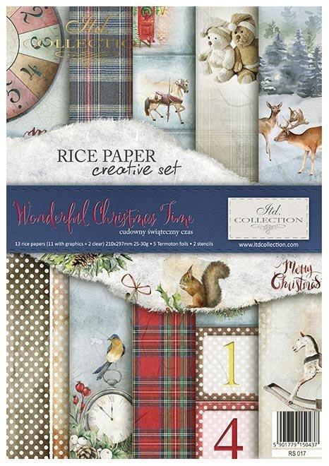 Zestaw kreatywny na papierze ryżowym - Cudowny świąteczny czas*Creative set on rice paper - Wonderful Christmas Time